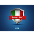 Italy shield with red ribbon Mamma Mia vector image vector image