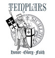 knightly design knight templar in armor with a vector image