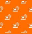laptop and and wireless pattern seamless vector image vector image