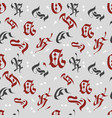 letters seamless pattern english alphabet vector image vector image