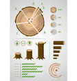 Log Infographic vector image vector image
