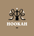 modern professional logo hookah in gold and black vector image