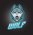 Modern professional wolf logo for a club or sport vector image vector image