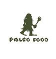 paleo food caveman design template vector image