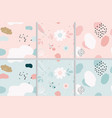 pastel memphis seamless pattern collection eps10 vector image