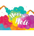 poster design of traditional indian festival holi vector image vector image
