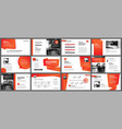 presentation and slide layout template design red vector image