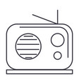 radio reciever line icon sign vector image vector image