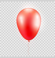 realistic red baloon on isolated on abstrac vector image