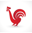 red fiery cock vector image