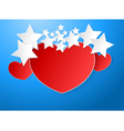 Red heart paper vector image vector image