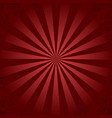 red retro ray background vector image vector image