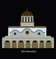 rila monastery in bulgaria flat cartoon style vector image vector image