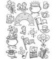 saint patrick s day elements line art vector image