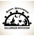 Scene with witches castle and ghost vector image vector image