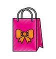 scribble cute gift bag cartoon vector image vector image