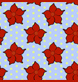 seamless floral pattern with red mandevilla vector image vector image