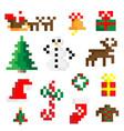 set of 8-bit symbols vector image vector image