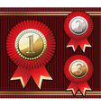 set of awards vector image vector image