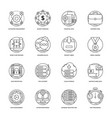 set of business and data management line i vector image
