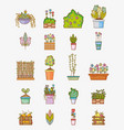 set of garden elements vector image vector image