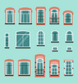 set of plastic or wooden window frames vector image vector image