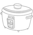 set of rice cooker vector image vector image