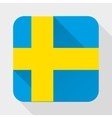 Simple flat icon Sweden flag vector image vector image