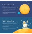 Space Moon Horizontal Banners vector image vector image