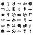 sport award icons set simple style vector image vector image