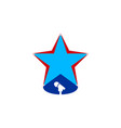 star logo and microphone musical logo design vector image vector image