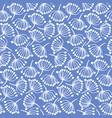 summer blue floral pattern with doodle dandelions vector image
