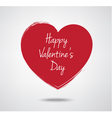 Valentines Day typography heart label vector image vector image
