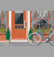 vintage house facade outdoor city street vector image