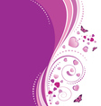 Violet swirl ornament vector image vector image