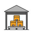 warehouse color icon vector image
