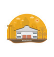 warehouse with solar panels on the roof vector image vector image