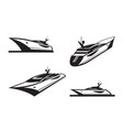 yacht in different perspective vector image