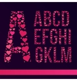 Font Created from the heart vector image