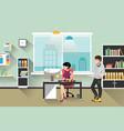 people work in office vector image