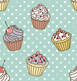 cakes pattern retro vector image
