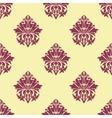 Purple and cream arabesque seamless pattern vector image