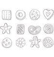 Set of fancy cookies vector image