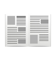 daily newspaper vector image