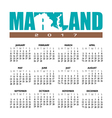 2017 Maryland calendar vector image vector image