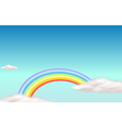 A rainbow in the sky vector image