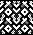 abstract black and white geometric pattern with vector image