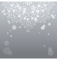 Abstract silver background with mandala ornament vector image vector image