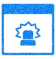 Alert Calendar Page Grainy Texture Icon vector image vector image