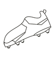 American football boot shoes spiked outline vector image